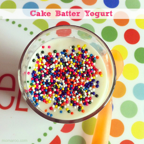 Funfetti Cake Batter Yogurt Recipe